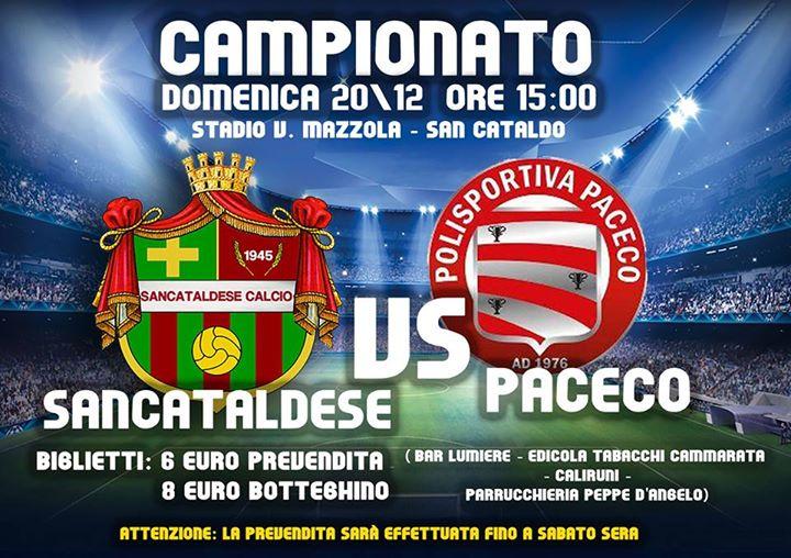 Campionato 15°giornata: Sancataldese - paceco 1976 1-2 12360310