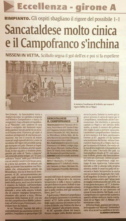 Campionato 20°giornata: Sancataldese - atl. campofranco 2-0 12647012