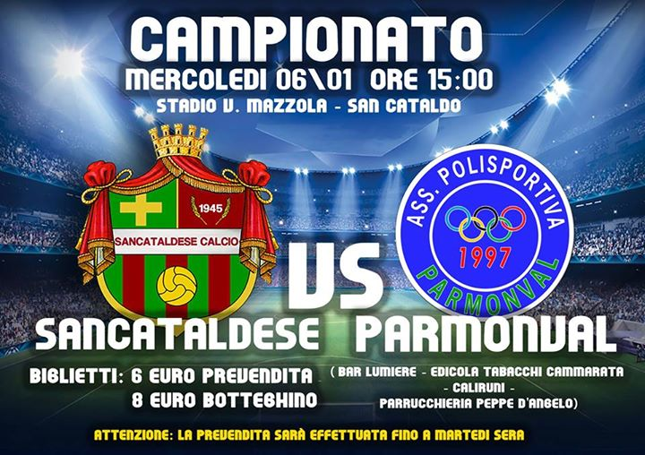 Campionato 16°giornata: Sancataldese - parmonval 3-1 19146210