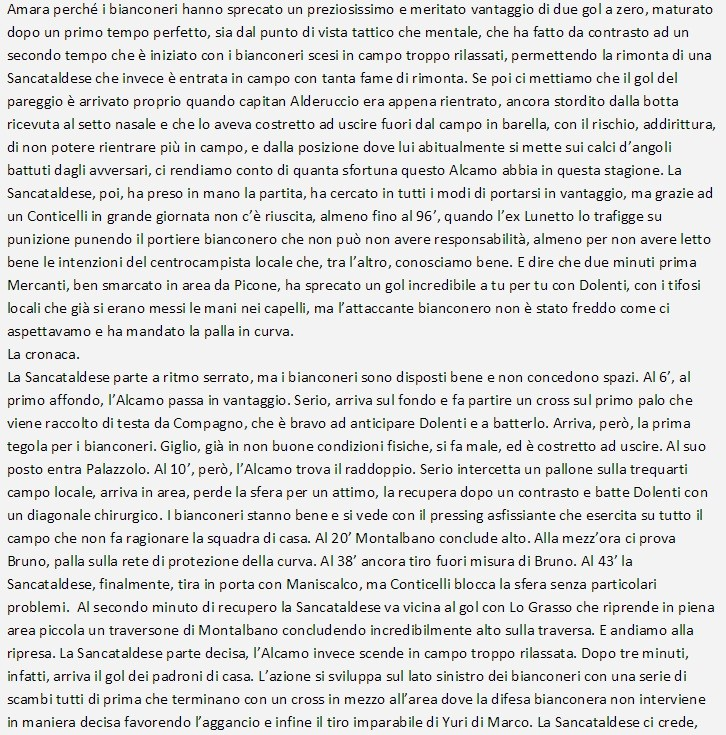 Campionato 12°giornata: Sancataldese - alba alcamo 3-2 Sancat14