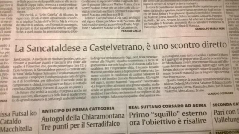 Campionato 11°giornata: folgore selinunte - Sancataldese 0-0 Wp_20110