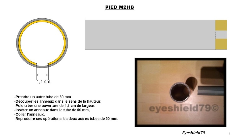[eyes] Tuto fabriquer pied affût browning.50 M2HB 12,7 mm Diapos40