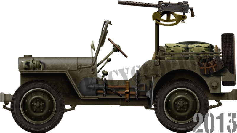 Jeep avec cal 30, Indochine Willys10