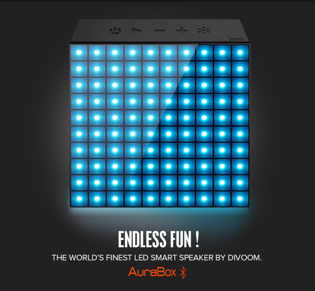 [MOBILEFUN] Test enceinte Bluetooth LED Divoom AuraBox Smart Retro Pixel  2015au11