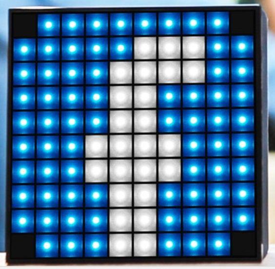 [MOBILEFUN] Test enceinte Bluetooth LED Divoom AuraBox Smart Retro Pixel  Facebo10