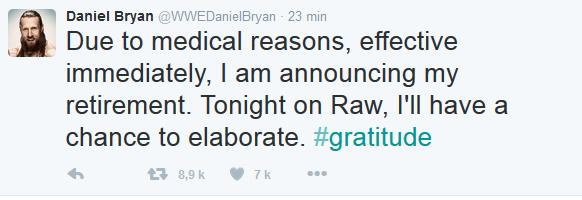 [Forme] Daniel Bryan annonce sa retraite sur twitter, work... ou pas ? (Mis à jour) Daniel10
