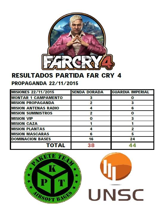 FAR CRY 4 SAGA - UNSC-PKT -Partida Abierta Campo UNSC 22/11/2015 Result10