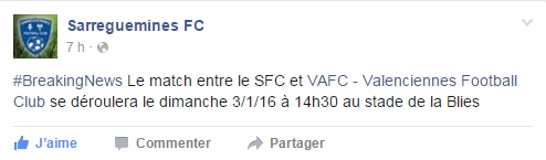 SARREGUEMINES/VAFC : 32EME DE FINALE DE COUPE DE FRANCE Facebo10