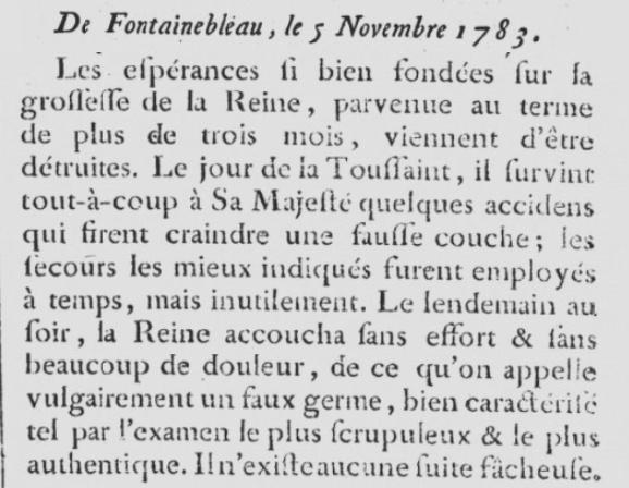 Les fausses couches de Marie-Antoinette Nouvel13