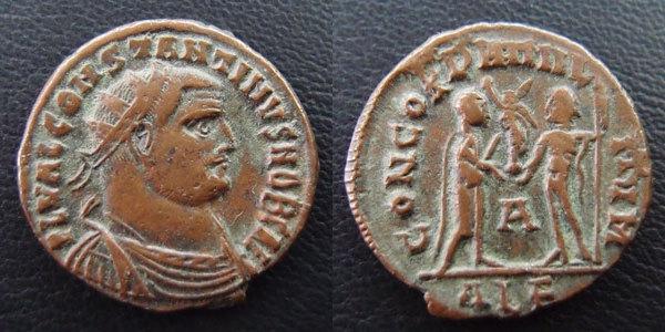 Constantin I Caesar - CONCORDIA MILITVM (Alexandria) Combin10