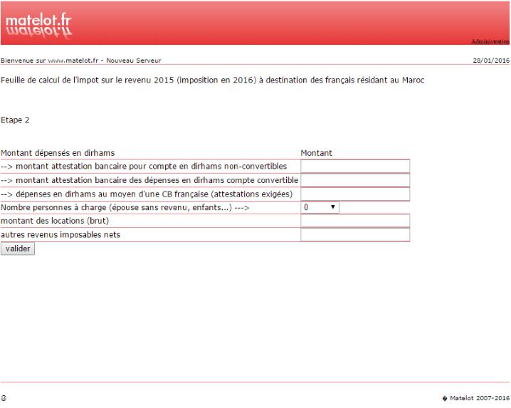 Résidents français au Maroc : calculer son imposition 2016 (revenus de 2015) Matelo11