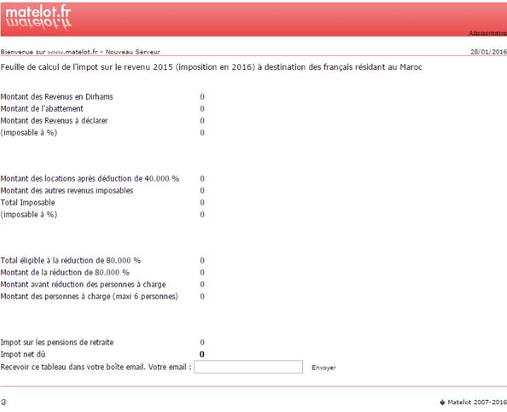 Résidents français au Maroc : calculer son imposition 2016 (revenus de 2015) Matelo12