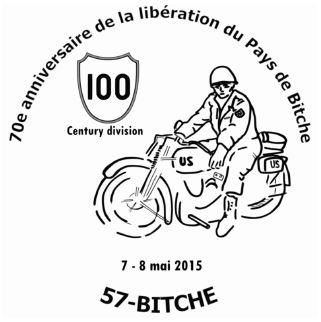 Timbres et cachets personnalisés de la Libération Bitche11