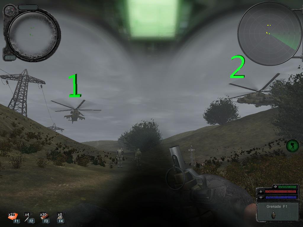 Faire appararître les deux hélicoptères à Agroprom 211
