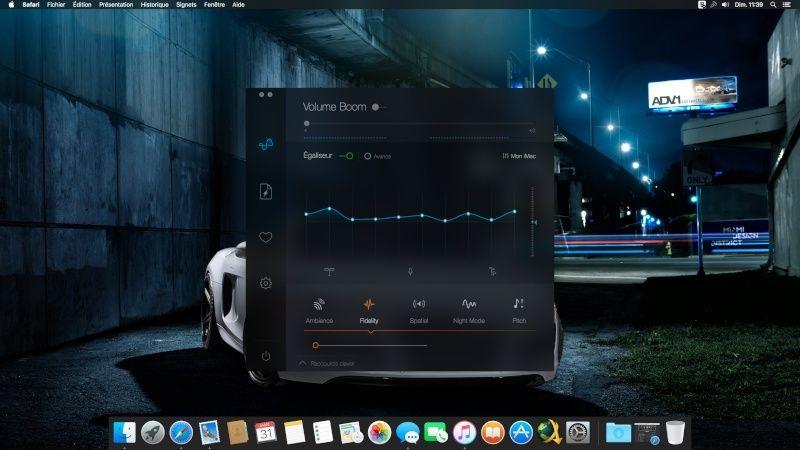 Equalizer pour MAC Captur10