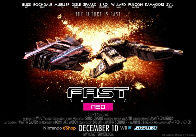 eShop: Fast Racing Neo Releases On The North American and European Wii U eShops On December 10th! 630x17