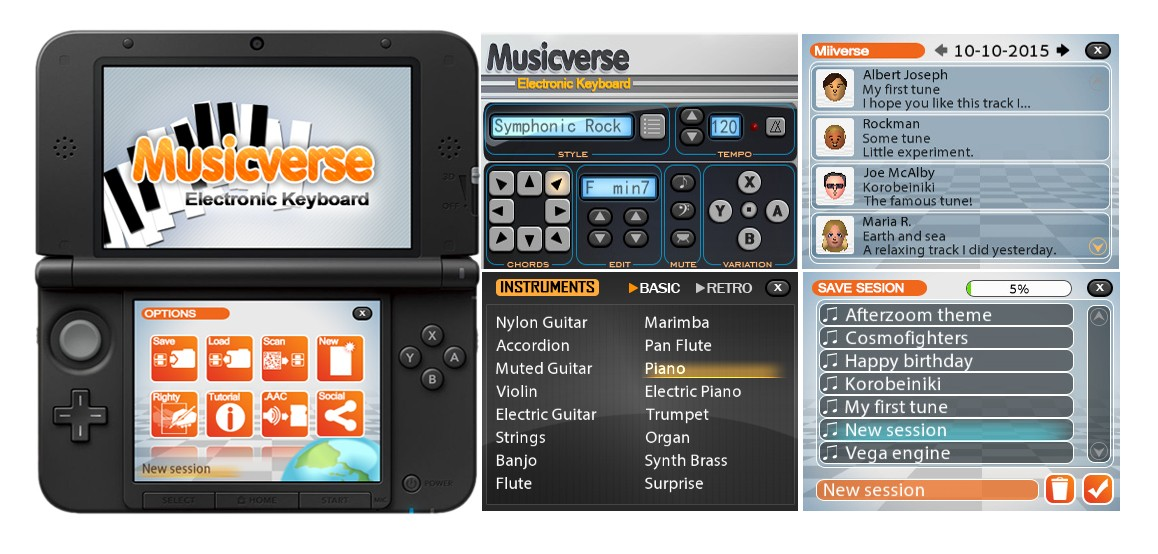 Breaking News: Musicverse: Electronic Keyboard Is Set To Hit The 3DS eShop On February 18th In North America! Check-11