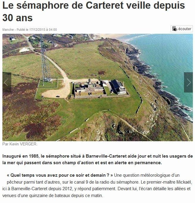 SÉMAPHORE - BARNEVILLE-CARTERET (MANCHE) Carter10