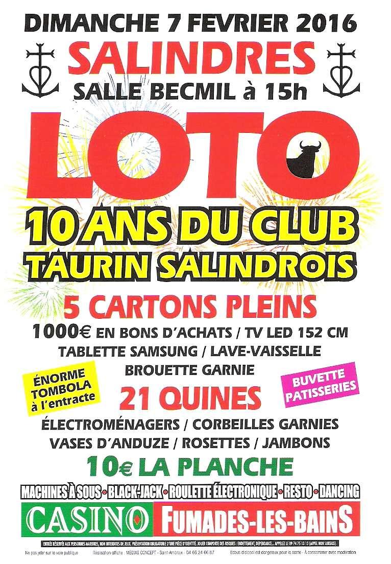 CLUB TAURIN SALINDOIS SAISON 2016 Numyri11