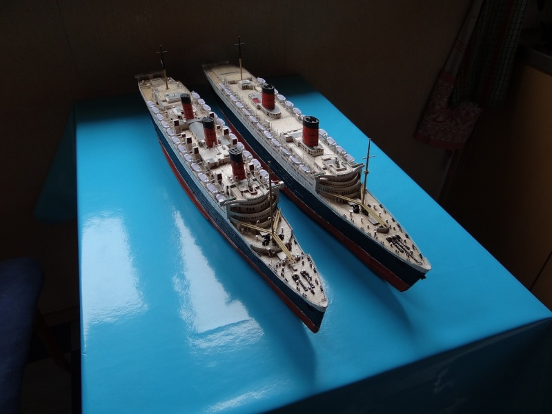 QUEEN MARY 1936 et QUEEN ELISABETH 1938 echelle 1/387° d'après plans US M13510