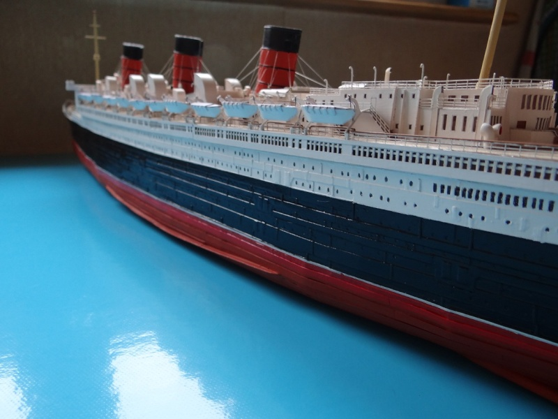 QUEEN MARY 1936 et QUEEN ELISABETH 1938 echelle 1/387° d'après plans US M14211