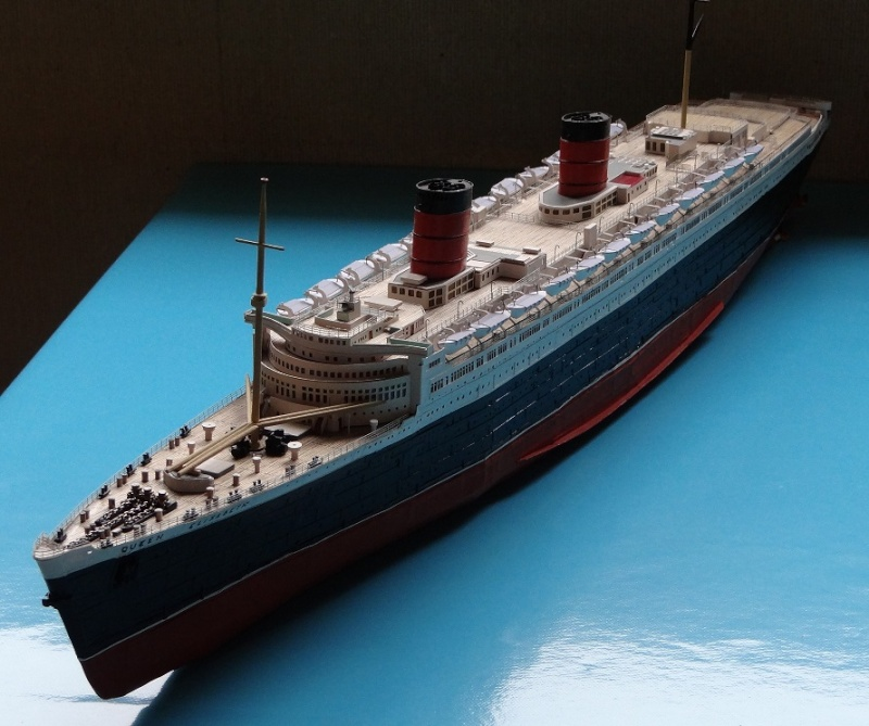 QUEEN MARY 1936 et QUEEN ELISABETH 1938 echelle 1/387° d'après plans US M15511