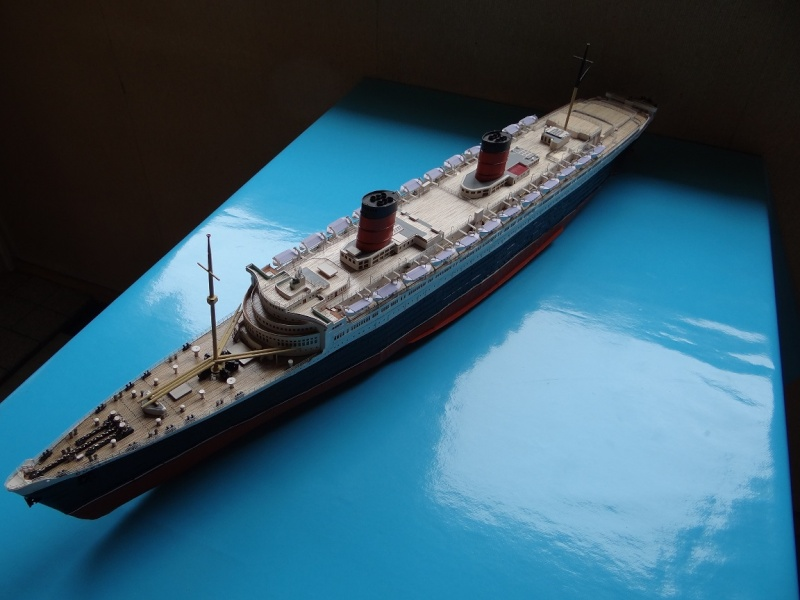 QUEEN MARY 1936 et QUEEN ELISABETH 1938 echelle 1/387° d'après plans US M15710