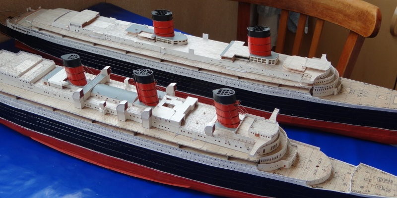 QUEEN MARY 1936 et QUEEN ELISABETH 1938 echelle 1/387° d'après plans US M2110