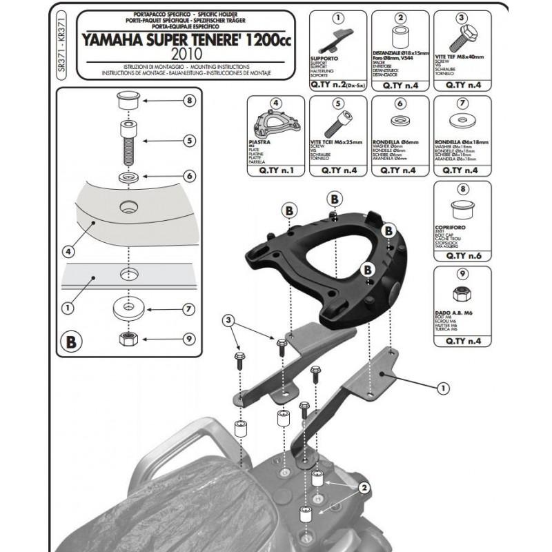 Attention aux fissures sur le support top case Givi-y10