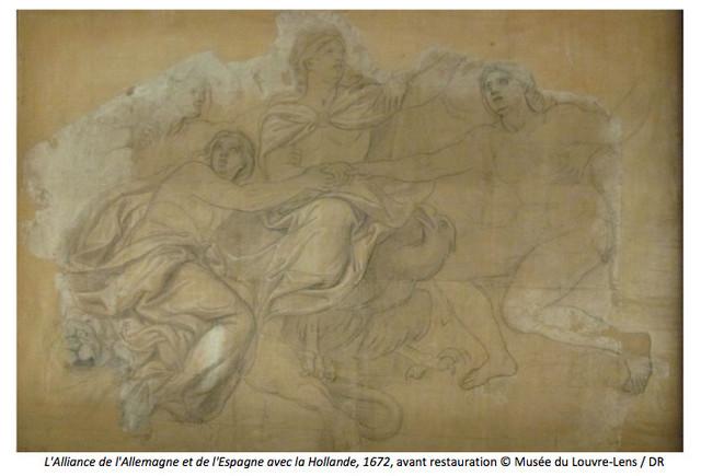 Restauration d'un carton de Le Brun au Louvre-Lens Captur10