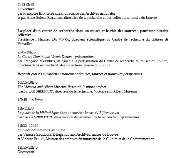 L'histoire des musées à la source: le Louvre et ses archives Prog110