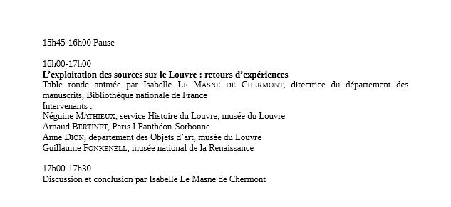 L'histoire des musées à la source: le Louvre et ses archives Prog310