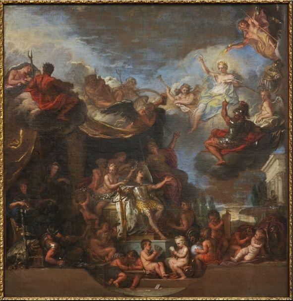 Expo Dessiner Versailles. Etudes et cartons de C. Le Brun Roi_go11