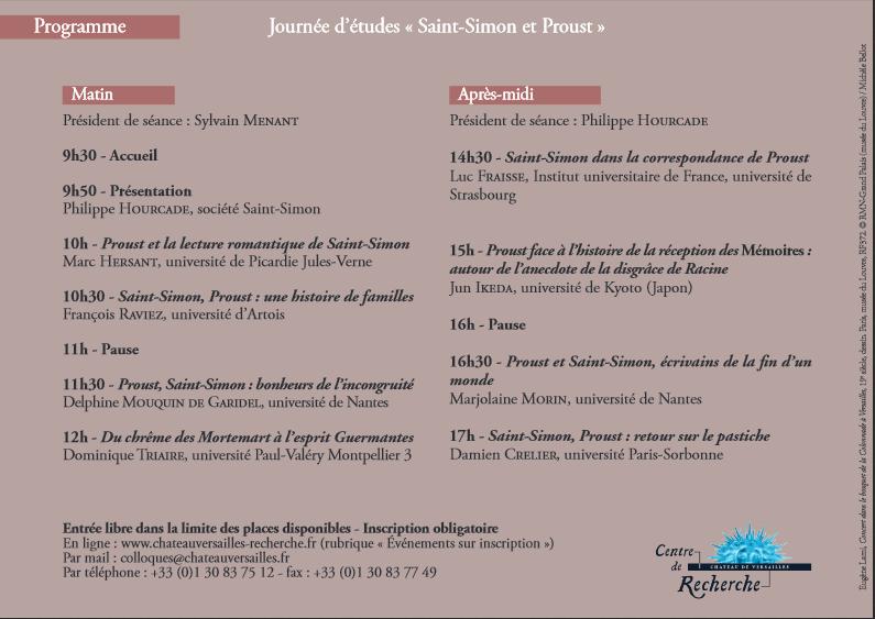 St Simon & Proust. CRCV. Gde Écurie du château de Versailles St_sim10