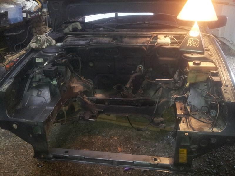 demontage moteur boite pour bonne révision 2015-116