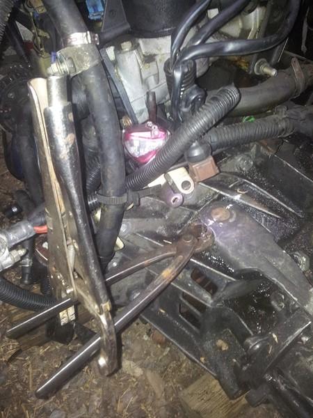 demontage moteur boite pour bonne révision 2015-120