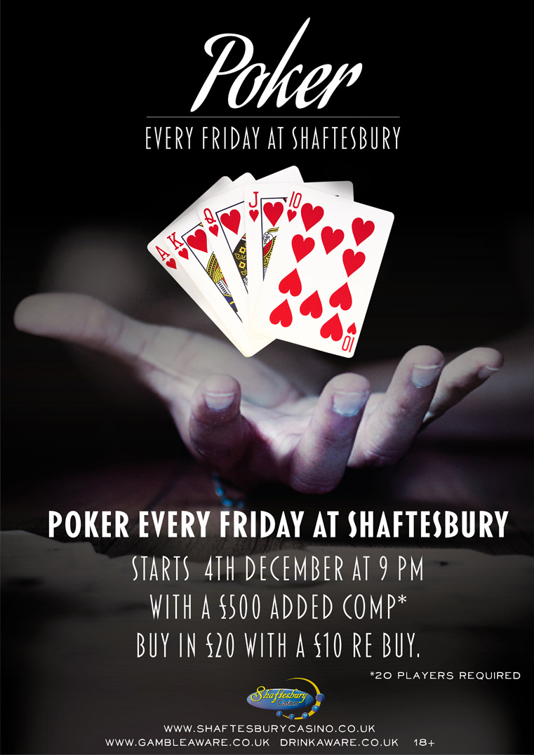 Friday Poker Returns to Shaftesbury Shafte10