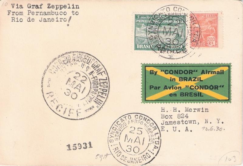 nach - Südamerikafahrt 1930, Post nach Rio de Janeiro - Seite 2 Brasil12