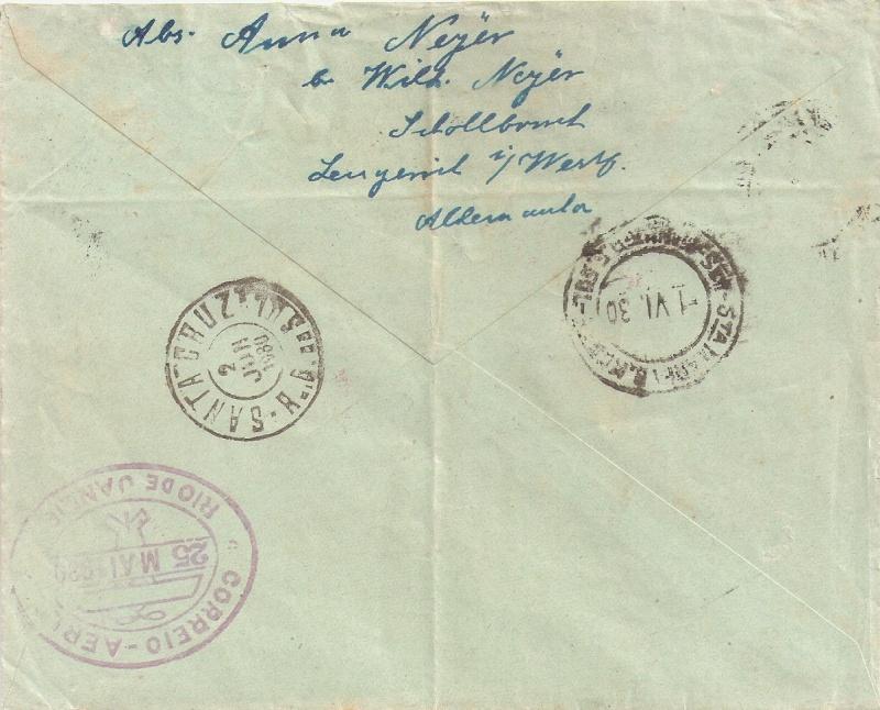 nach - Südamerikafahrt 1930, Post nach Rio de Janeiro - Seite 2 Rio_do11
