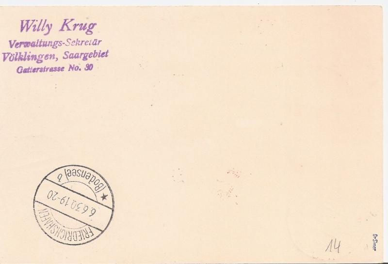"""nach - Südamerikafahrt 1930 (Rundfahrt-) Post nach Friedrichshafen"""" - Seite 6 Saar_r11"""