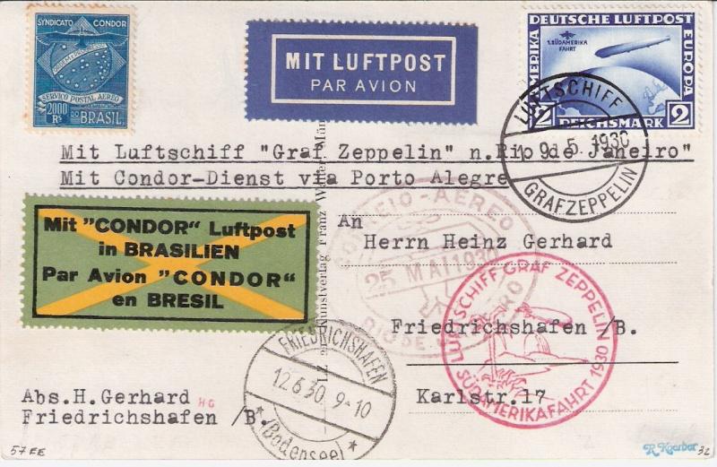 Südamerikafahrt 1930, Post nach Rio de Janeiro - Seite 2 Sieger11