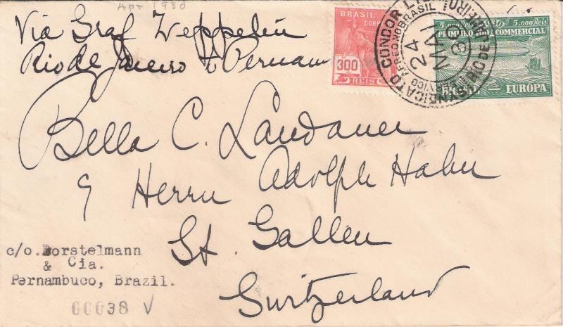 nach - Südamerikafahrt 1930, Post nach Pernambuco - Seite 3 Zwilli10