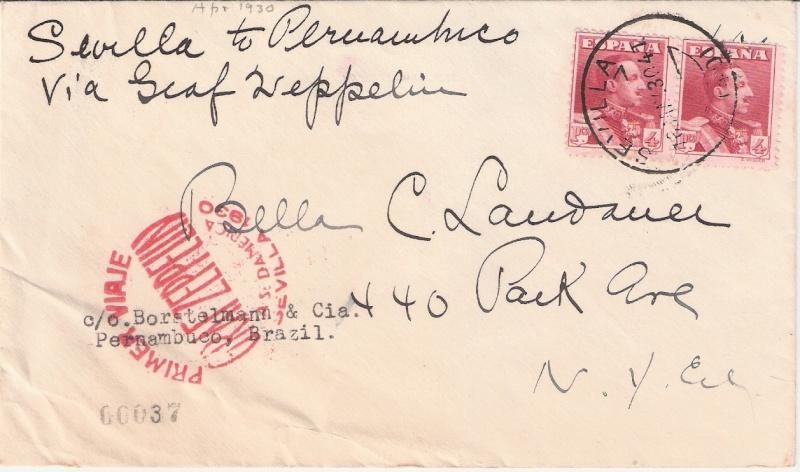 nach - Südamerikafahrt 1930, Post nach Pernambuco - Seite 3 Zwilli11