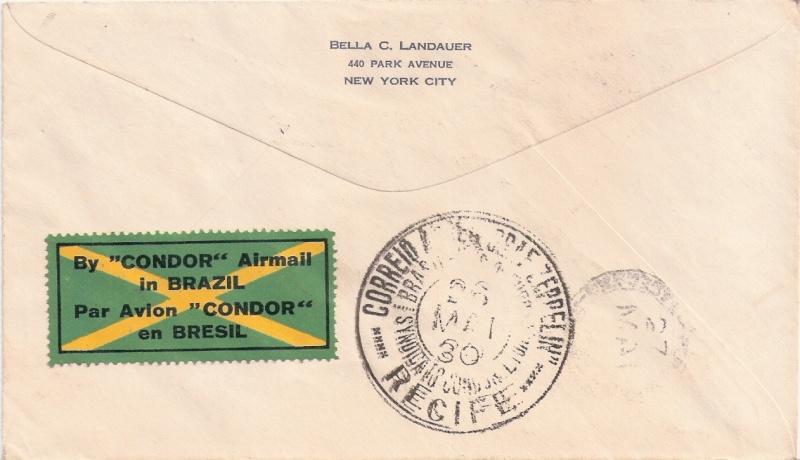 nach - Südamerikafahrt 1930, Post nach Pernambuco - Seite 3 Zwilli12