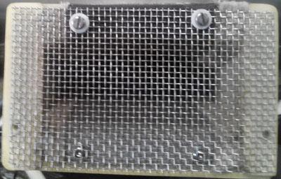 Filtre à air sur le MCR Grille10