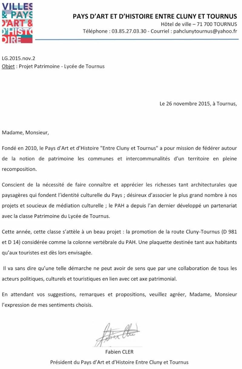 Promotion de la route Cluny-Tournus (D 981 et D 14) Projet patrimoine Lycée de TOURNUS 1_copi12