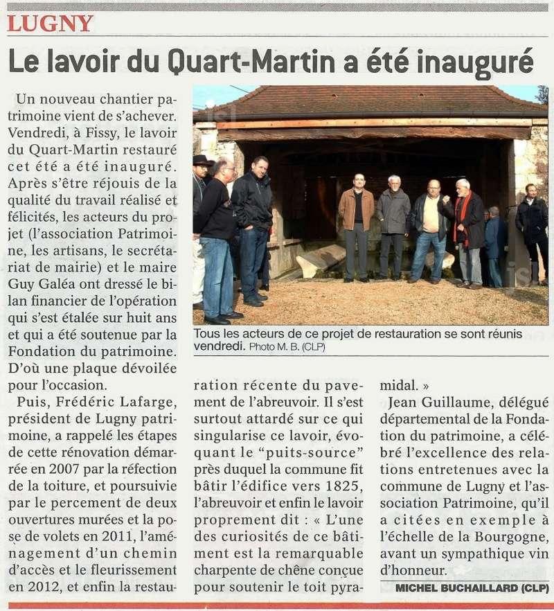 LUGNY Le lavoir du Quart-Martin a été inauguré _le_la10