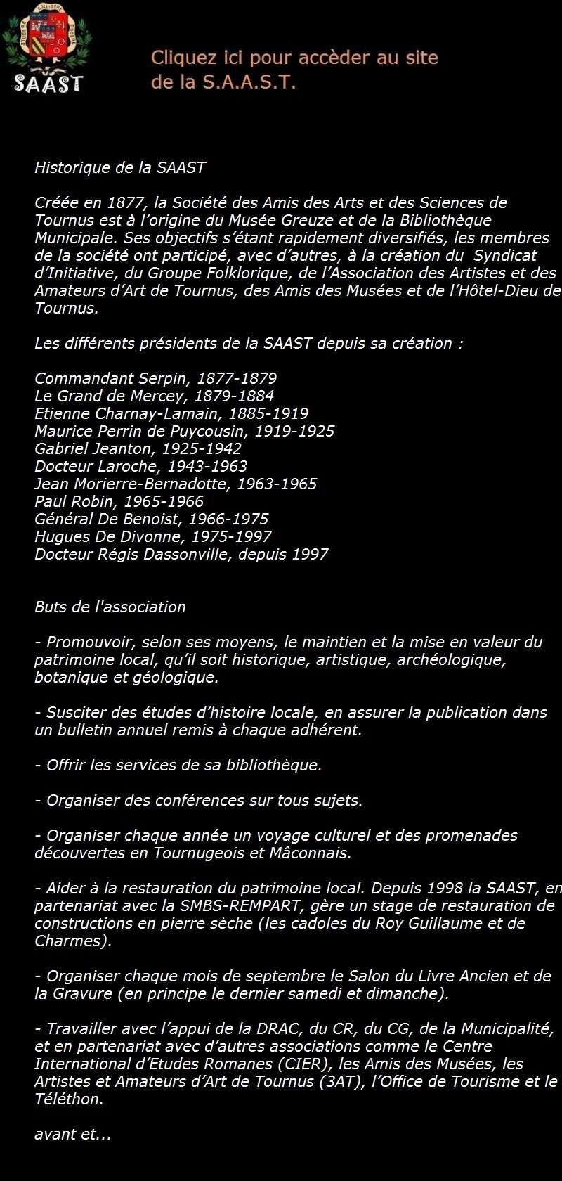 Programme des activités de la SAAST pour le 1er semestre 2016 Logo_s13