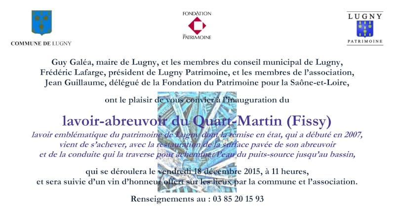 Lugny : invitation inauguration du lavoir-abreuvoir du Quart-Martin (hameau de Fissy) Lugny_13