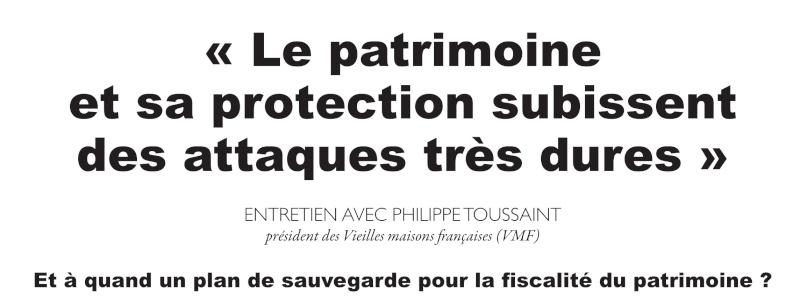 Les VMF et la protection du patrimoine par Philippe TOUSSAINT Titre11